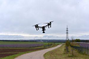 Die Drohne des Projekts COSIMA im Einsatz