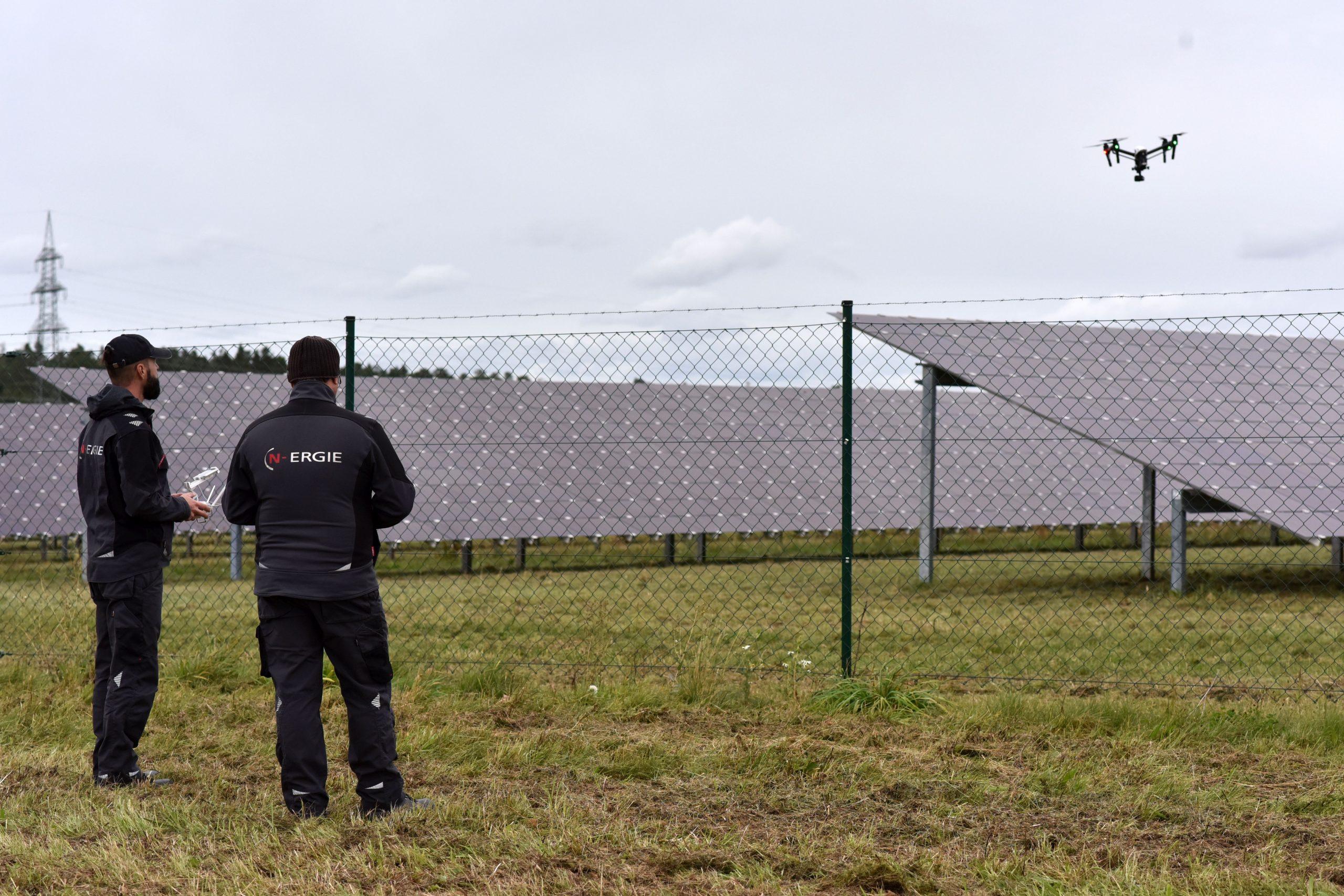 Die Befliegung der PV-Anlage in Bonnhof mit der Drohne